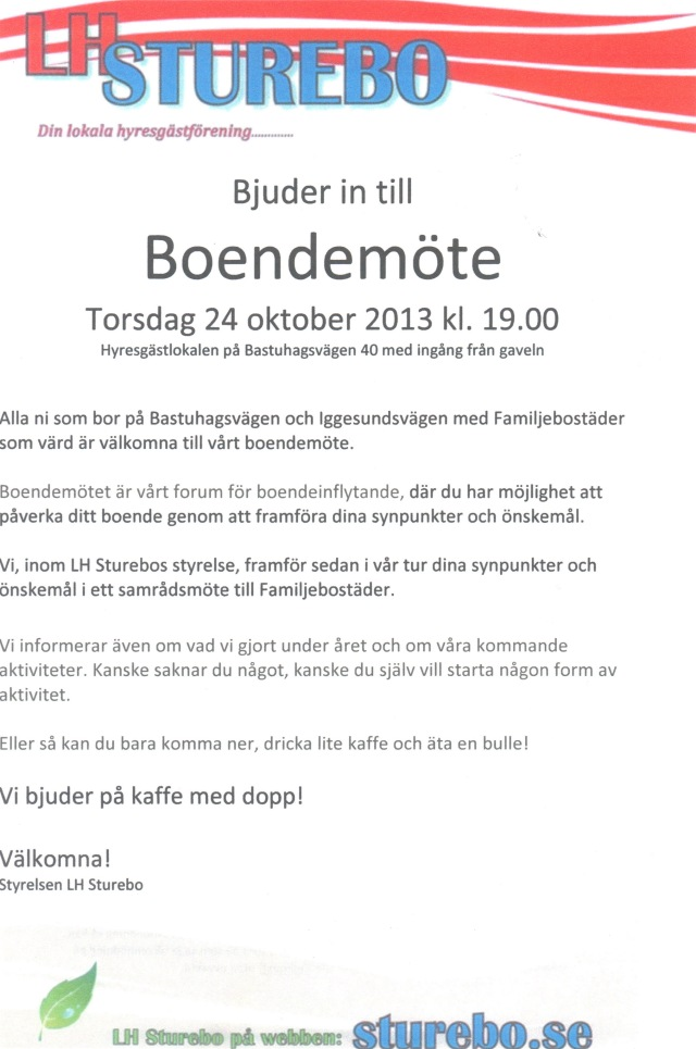 2013-10-24 Boendemöte