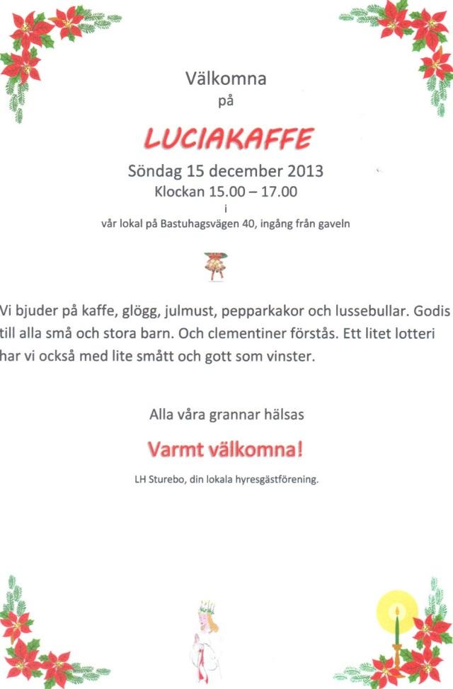 Luciakaffe 2013